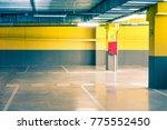 empty parking underground... | Shutterstock . vector #775552450