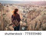 cappadocia landscape with a... | Shutterstock . vector #775555480