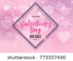 valentine's day love and... | Shutterstock .eps vector #775557430
