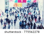 intentionally blurred crowd of... | Shutterstock . vector #775562278