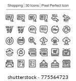 shopping and e commerce line...   Shutterstock .eps vector #775564723