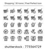 shopping and e commerce line...   Shutterstock .eps vector #775564729