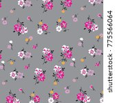 cute  trendy floral pattern in... | Shutterstock .eps vector #775566064