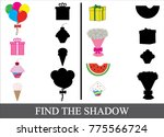 find the shadow. kid s game.... | Shutterstock .eps vector #775566724