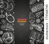 vietnamese food poster. a set... | Shutterstock .eps vector #775568740
