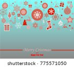 decorative winter card ... | Shutterstock .eps vector #775571050