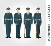 soldier and guard of honor... | Shutterstock .eps vector #775571656