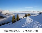 view of alps at mayrhofen ski... | Shutterstock . vector #775581028