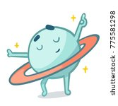 cute cartoon planet dancing...   Shutterstock .eps vector #775581298