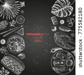 vietnamese food poster. a set... | Shutterstock .eps vector #775582180