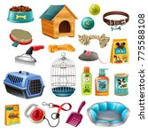isolated pet care accessory... | Shutterstock . vector #775588108