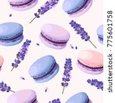 seamless pastel macarons | Shutterstock .eps vector #775601758