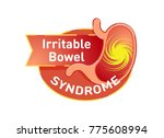 irritable bowel syndrome  ibs ... | Shutterstock .eps vector #775608994
