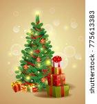 christmas festive backgroung... | Shutterstock .eps vector #775613383