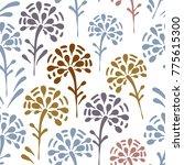 vector floral seamless pattern | Shutterstock .eps vector #775615300