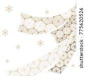 japanese pattern vector. gold... | Shutterstock .eps vector #775620526