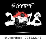 abstract number 2018 and soccer ... | Shutterstock .eps vector #775622143