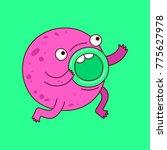 vector illustration of cute... | Shutterstock .eps vector #775627978