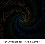 vector three colors symmetrical ...   Shutterstock .eps vector #775633954