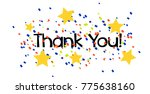 thank you  beautiful greeting... | Shutterstock .eps vector #775638160