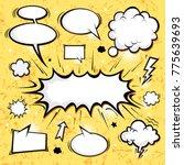 big set comic speech bubbles | Shutterstock .eps vector #775639693