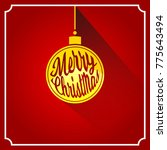 merry christmas decoration for... | Shutterstock .eps vector #775643494
