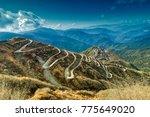 beautiful curvy roads on old... | Shutterstock . vector #775649020