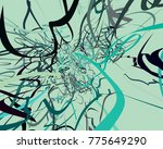 abstract art texture. colorful... | Shutterstock . vector #775649290