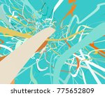 abstract art texture. colorful... | Shutterstock . vector #775652809