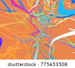 abstract art texture. colorful... | Shutterstock . vector #775653508