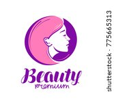 beauty shop or salon logo.... | Shutterstock .eps vector #775665313