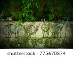 three bicycle in the wall | Shutterstock . vector #775670374