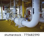 pipeline production and control ... | Shutterstock . vector #775682590