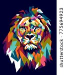 Colorfully Lion. Lion Logo....