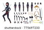 ninja vector. animated... | Shutterstock .eps vector #775697233