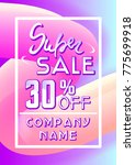super sale flyer consept.... | Shutterstock .eps vector #775699918