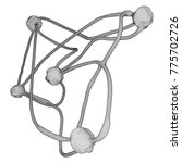neuron system wireframe mesh... | Shutterstock .eps vector #775702726