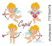 cupid set vector. cupids bow.... | Shutterstock .eps vector #775704478