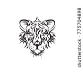 tribal tiger head vector | Shutterstock .eps vector #775704898