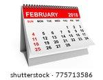 2018 Year Calendar. February...