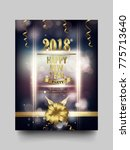 happy new year 2018 party flyer ...   Shutterstock .eps vector #775713640
