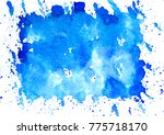 blue watercolor stain... | Shutterstock . vector #775718170