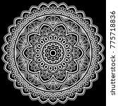 mandala pattern white   Shutterstock .eps vector #775718836
