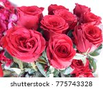 Stock photo red roses with green leaf red rose wallpaper rose roses backgrounds roses bouquet red roses 775743328