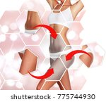 beautiful woman's body against... | Shutterstock . vector #775744930