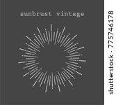 sunbrust vintage elements    Shutterstock .eps vector #775746178