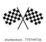 vector black and white crossed...   Shutterstock .eps vector #775749736