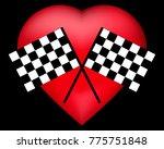 vector black and white crossed...   Shutterstock .eps vector #775751848