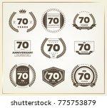 70 years anniversary logo set....   Shutterstock .eps vector #775753879