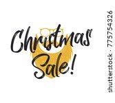 christmas sale lettering and... | Shutterstock . vector #775754326